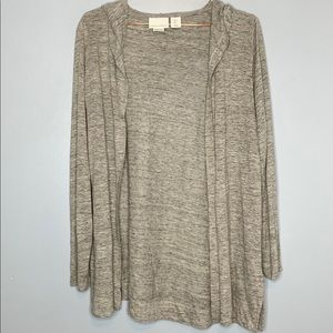 Cynthia Rowley | Cardigan 100% LINEN Hooded
